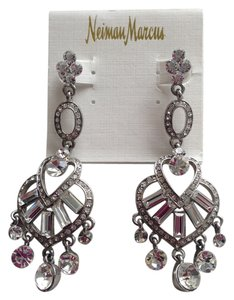 Crystal dangle pierced earrings