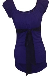 Arden B. Top Purple and Black