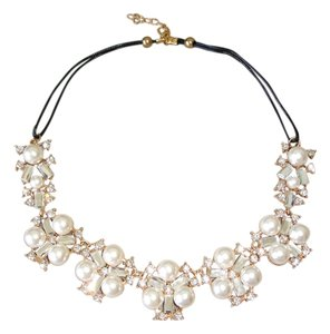Other pearl and crystal cluster necklace