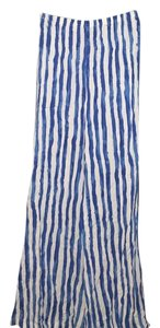 Zac & Rachel Wide Leg Pants Blue and White