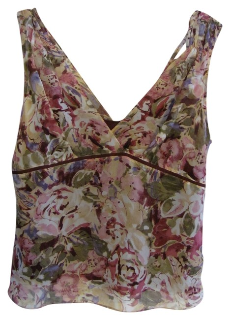 Tapemeasure Top Maroon floral