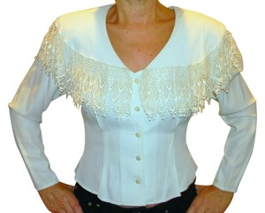 Other Vintage Lace Fitted Top