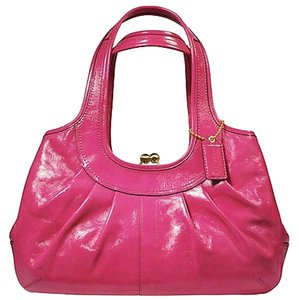 Coach Satchel in Pink Ergo Pleated Bag