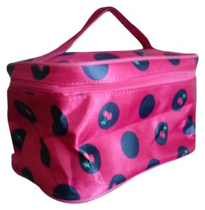 new! cherry print makeup bag
