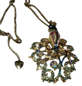 Betsey Johnson BETSEY JOHNSON LARGE PEACOCK NECKLACE