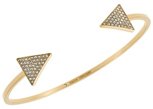Michael Kors NEW with BOX! Michael Kors GOLD Pave Triangle Cuff Bracelet