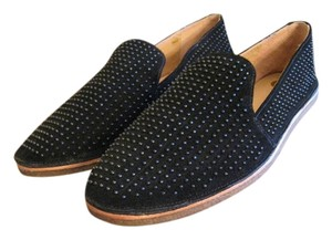 Vince Camuto Studded Suede Vc Loafers Black Flats