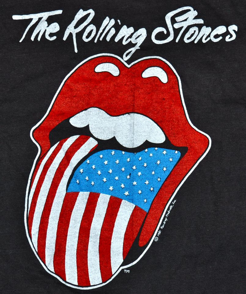 Black Vintage 80s 1981 The Rolling Stones Tattoo You Rock Concert Tour Tee Shirt Size Os One Size 69 Off Retail