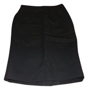 Miu Miu Wool Pencil Classic Skirt Black