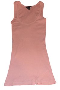 French Connection Classic Ribbed Summer Top Dusty Pink