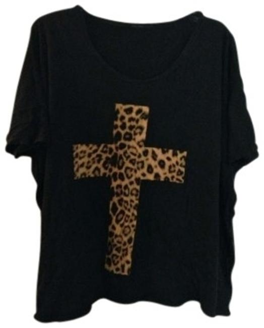Preload https://img-static.tradesy.com/item/141246/truly-madly-deeply-black-urban-outfitters-leopard-cross-tee-shirt-size-12-l-0-0-650-650.jpg