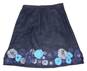 Moschino Summer Dark Classic Skirt Blue