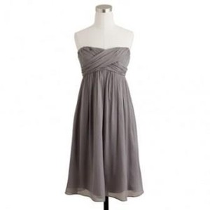 J.Crew Graphite Taryn Dress Silk Chiffon Dress