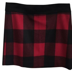 J.Crew Mini Skirt Red & black