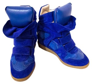 Isabel Marant Becket Suede Blue Wedges