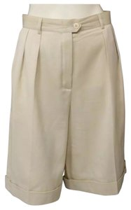 Escada Cuffed Shorts Khaki