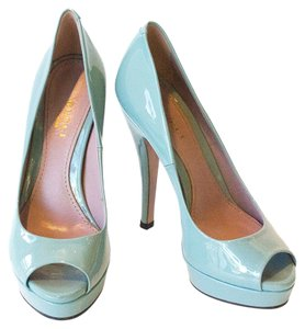 Gucci Patent Peep Toe Pump Green Pumps