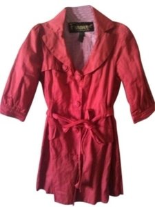 Forever Red Peter Pan Spring Jacket size S Preppy Romantic Red Jacket