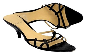 Bally Black Leather Sandal Heels Sandals