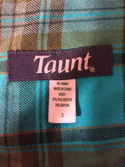 Taunt Mini Skirt Green and Brown