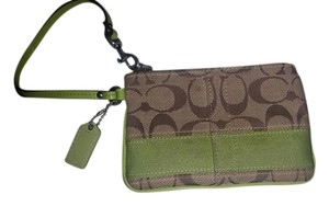 Coach Casual Wristlet in Brown / Green
