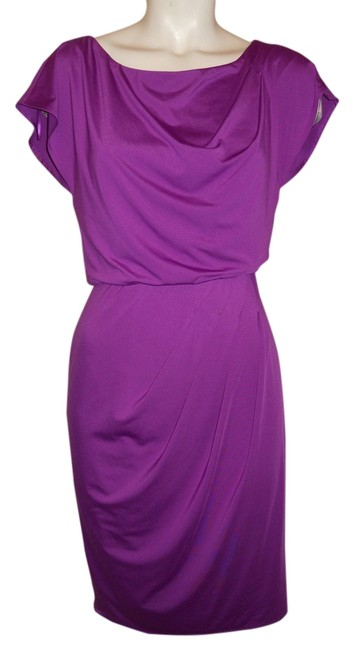Vince Camuto Plum Knit Knee Length Night Out Dress Size 2 (XS) Vince Camuto Plum Knit Knee Length Night Out Dress Size 2 (XS) Image 1