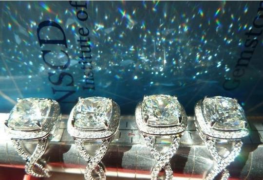 Sizes Size 5 5.5 6 7 and 8 In Stock Diamond Square Band Proposal Promise Girlfriend Wife 3ct Pt950 Nscd Usa Engagement Ring