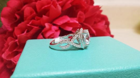 Sizes Size 5 5.5 6 7 and 8 In Stock Diamond Square Band Proposal Promise Girlfriend Wife Engagement Ring
