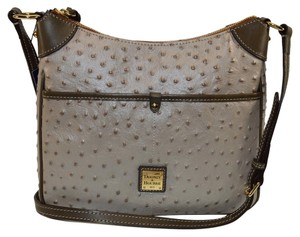 Dooney & Bourke Kimberly Oyster Ostrich Emb Leather & Cross Body Bag