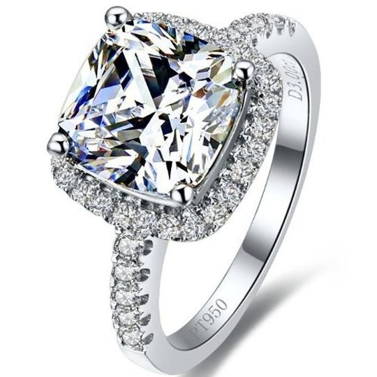 Size 4.5 5 5.5 6 7 and 8 In Stock Diamond Square Band Engagement Cushion Square New Sona Usa Proposal Wife Ring