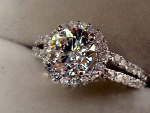 Pave Sizes Size4.5 5 5.5 6 7 And 8 In Stock Ring Diamond Square Band Wedding Engagement Proposal Promise Bridal Wife 2ct