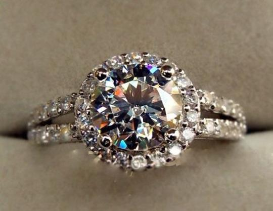 Pave Sizes Size4.5 5 5.5 6 7 and 8 In Stock Diamond Square Band Proposal Promise Wife 2ct Engagement Ring Image 1