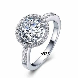 Sizes 4 5 6 7 8 9 Sterling Silver Core Solid Halo Band 2.5 Ct Diamond Crystal Cz Band Ring
