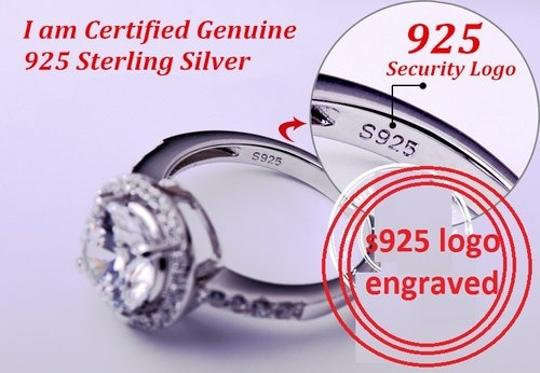 Sizes 4 5 6 7 8 9 Sterling Silver Core Solid Halo Band 2.5 Ct Diamond Crystal Cz Band Engagement Ring