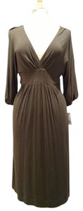 Army Green Maxi Dress by Vince Empire Waist