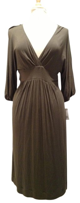 Army Green Maxi Dress by Vince V-neck Empire Waist