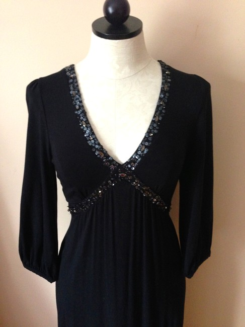 black Maxi Dress by Boden Sparkle Sequin