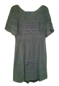 Anthropologie short dress sage green on Tradesy