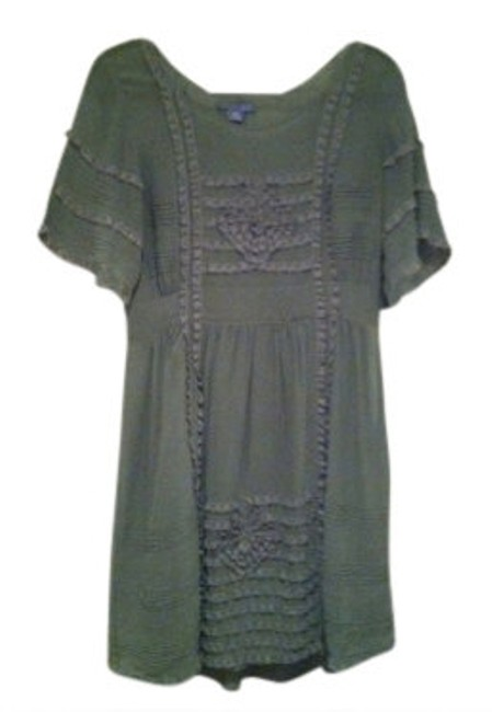 Preload https://item5.tradesy.com/images/anthropologie-sage-green-lace-above-knee-short-casual-dress-size-8-m-14129-0-0.jpg?width=400&height=650