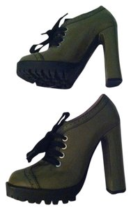 RED Valentino Chunky Heel Green Boots