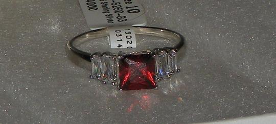 Other Hallmarked 925 Sterling Silver Genuine Garnet & White Topaz 5 Stone Ring Available Sizes 5 6 7 8 9
