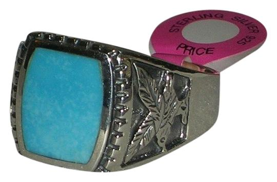 Other Hallmarked 925 Sterling Mens Eagle Engraved Genuine Turquoise Sterling Ring Available Size 10 11 12 13 14