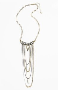 Lee Angel Nordstrom Missing Piece Draped Chain Pendant Necklace