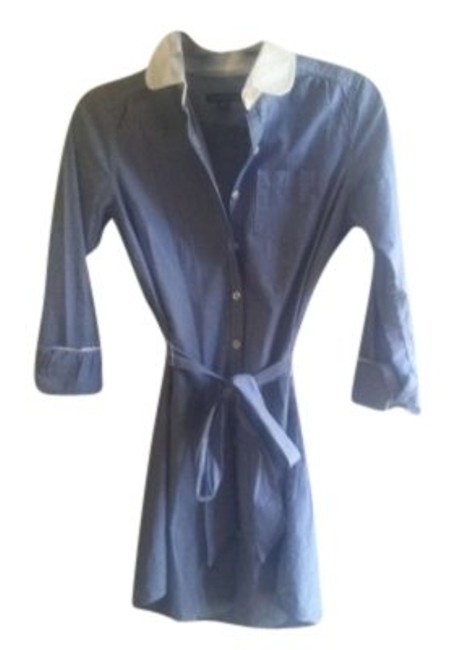 American Eagle Outfitters short dress Blue pinstripe on Tradesy