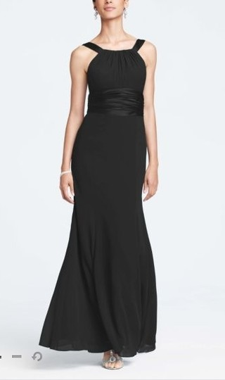 David's Bridal Black Shell: 100 Polyester Lining: Polyester Style F12732 Formal Bridesmaid/Mob Dress Size 8 (M) Image 0