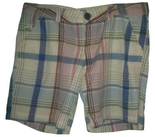 Item - White Red Blue Purple Green & Pink Ae Live Your Plaid Golf Shorts Size 10 (M, 31)