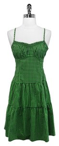 Nanette Lepore short dress Green/Black Polka Dot on Tradesy
