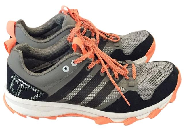 Item - Grey and Orange Traxion Sneakers Size US 9 Regular (M, B)