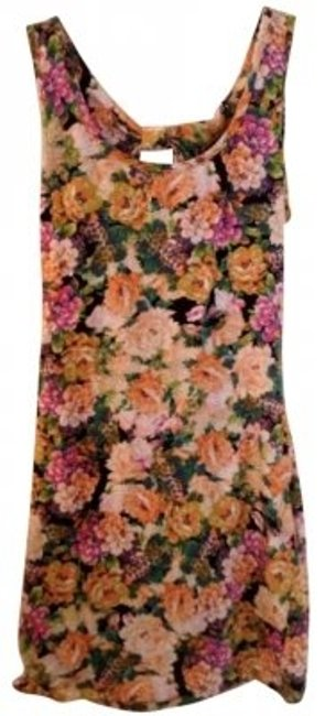 Preload https://item2.tradesy.com/images/forever-21-multicolor-floral-open-back-tank-mini-short-casual-dress-size-12-l-141316-0-0.jpg?width=400&height=650