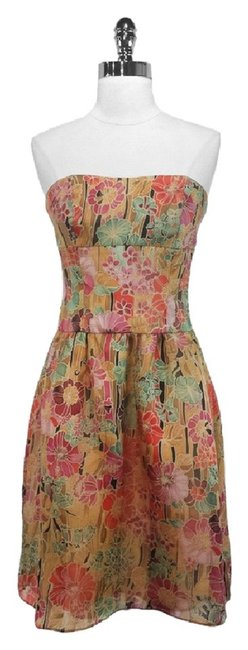 Kay Unger Silk Floral Dress